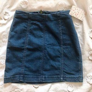 NWT Free People Modern Femme Denim Mini Skirt!